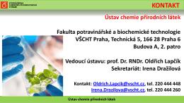 Presentace ústavu - Studuj na VŠCHT Praha