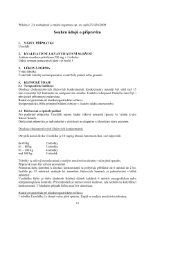 Souhrn údajů o přípravku - Ursofalk 500 mg