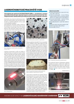 Laserové robotické pracoviště v ksk