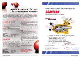 Rychle a snadno – přechody na transparentní materiály