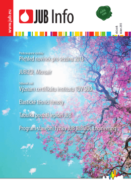 Přehled novinek pro sezónu 2013 JUBIZOL Microair Význam