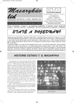 Masarykův lid 4/2013 - Klub dr. Milady Horákové