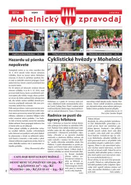 Mohelnický zpravodaj srpen 2014