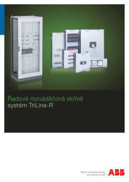 Řadové rozváděčové skříně systém TriLine-R
