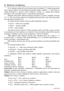 8. Datové struktury