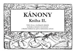 KÁNONY Kniha II. - Collegium pro arte antiqua