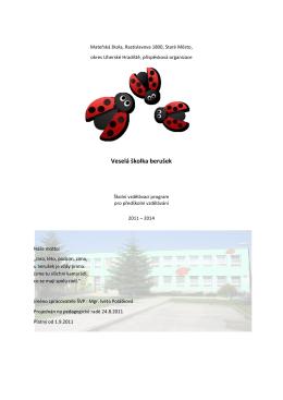 Stáhnout vzdělávací program - Mateřská škola Rastislavova