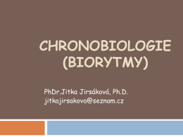 CHRONOBIOLOGIE (BIORYTMY)