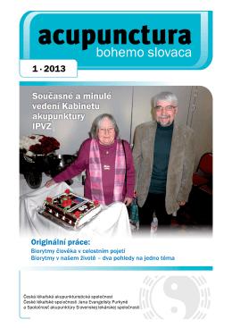 2013 - 1 - Česká lékařská akupunkturistická společnost