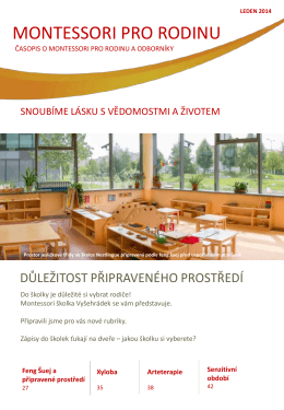 Montessori pro rodinu – leden 2014