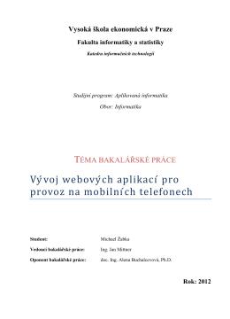 Vývoj webových aplikací pro mobilní zařízení
