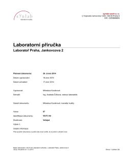 Laboratorní příručka - synlab Czech Republic