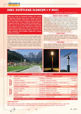 článek solární lampy