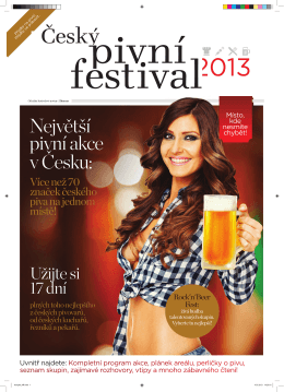 Největší pivní akce v Česku: