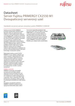 Datasheet Server Fujitsu PRIMERGY CX2550 M1 Dvoupaticový