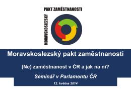 Prezentace z vystoupení v Poslanecké sněmovně PČR