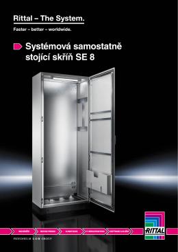 Systémová samostatně stojící skříň SE 8