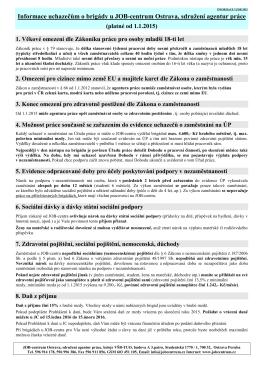 Informace uchazečům - JOB