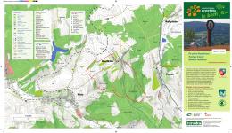 Mapa soch vč. vyznačeného okruhu a stezky Naokolo Hostětína