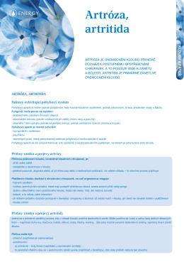 Artróza, artritida (.pdf)