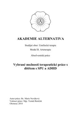 Vybrané možnosti terapeutické práce s dítětem s SPU a ADHD