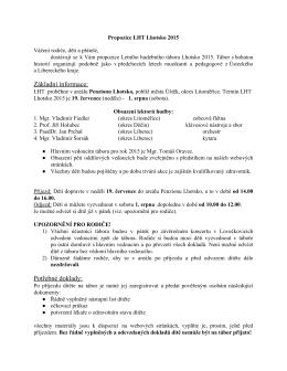 Propozice LHT 2015