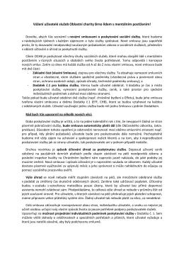Průvodní dopis - Diecézní charita Brno Služby Brno