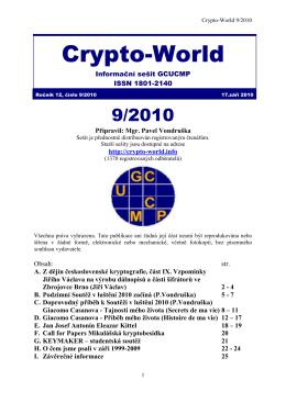 Sešit 9/2010  - Crypto