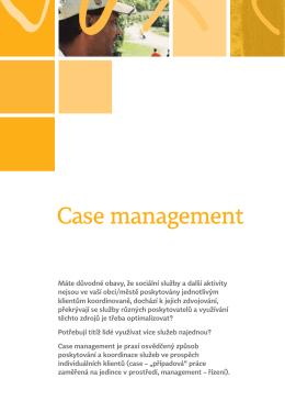 Case management - Agentura pro sociální začleňování
