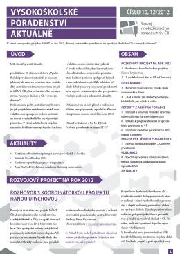 Newsletter 10_final.pdf - Asociace vysokoškolských poradců