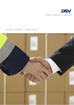 Etický kodex jednání dodavatelů DSV