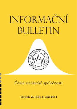 Ročník 25, číslo 3, září 2014 - Česká statistická společnost