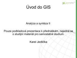 Úvod do GIS