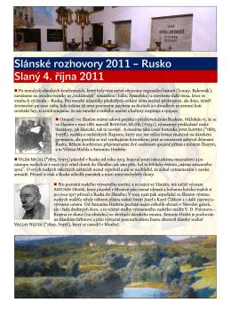 Slánské rozhovory 2011 - Slovanský ústav AV ČR