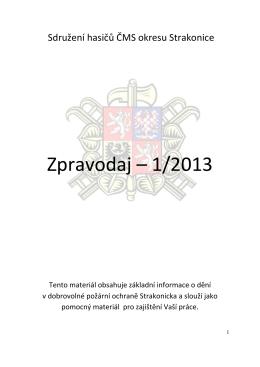 Zpravodaj 1-13 - OSH Strakonice