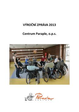 Výroční zpráva Centra Paraple, o.p.s. za rok 2013