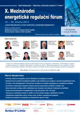 X. Mezinárodní energetické regulační fórum