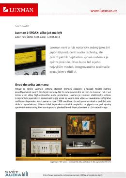 Svět audia Luxman L-590AX: áčko jak má být Luxman není u nás