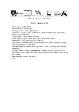Kostra – pracovní list