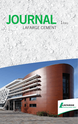 journal 1/2013 - Lafarge Cement a.s.