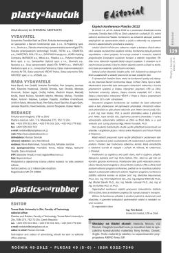5-6/2012 - Plasty a kaučuk