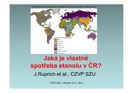 Jaká je vlastně spotřeba etanolu v ČR?