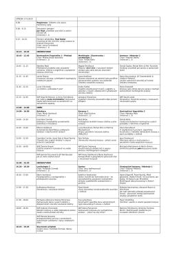 předběžná verze programu