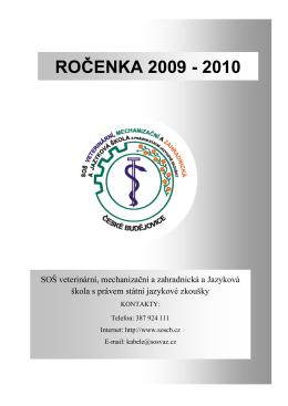 ročenka 2009 - 2010 - SOŠ veterinární, mechanizační a zahradnická