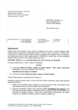 Pelhřimov - Autovraky.pdf - EKOPRON