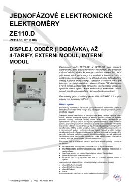 Technická specifikace ZE110