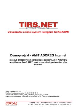 Demoprojekt - AMiT ADOREG Internet