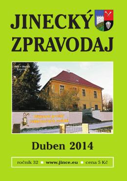 Jinecký zpravodaj - duben 2014