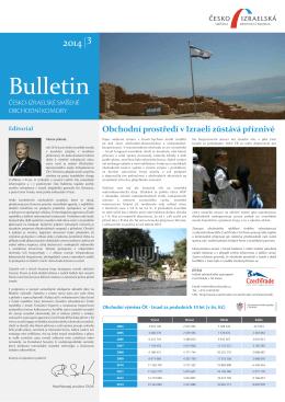 Bulletin ČISOK 2014/3 - Česko-izraelská smíšená obchodní komora