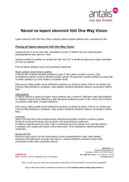 Návod na lepení okenních fólií One Way Vision